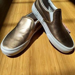 1b50d737ca Vans Shoes - MUTED METALLIC GOLD SLIP-ON VANS CLASSIC LADIES